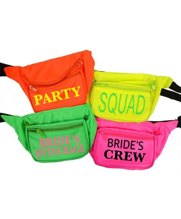 e429f52b85c6 Customized, neon, Bridal party, fanny packs, bachelorette party, bridal  swag, bride to be, bridal squad, custom order ! $19 www.etsy.com/shop/ ...