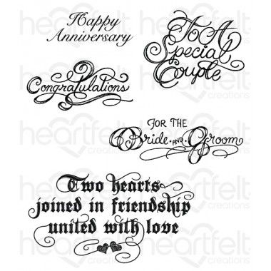 Heartfelt Creations Cling Rubber Stamp Set-Simply Classic