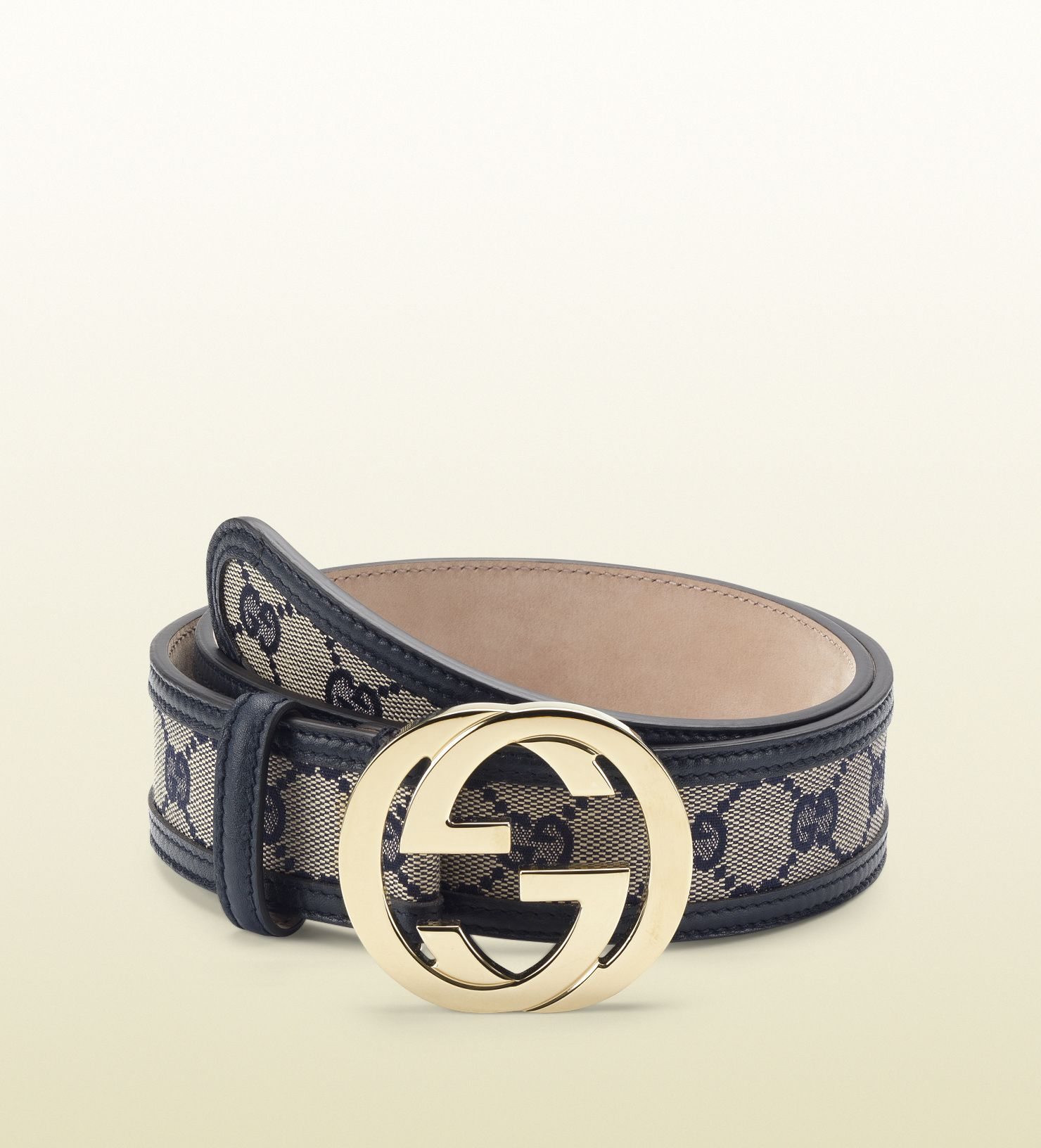 5cf497314 original GG canvas belt with interlocking G buckle | Leather goods ...