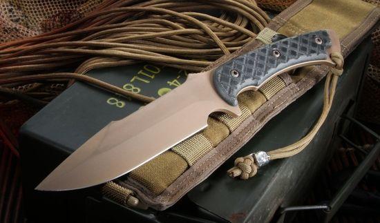 Spartan Blades Horkos - Dark Earth Blade Black Micarta Tactical Fixed Blade - by Spartan Blades - Spartan Knives