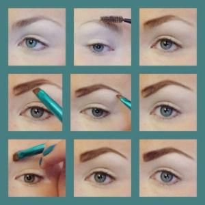 How to fill in your eyebrows with eyeshadow. Using an angle brush on your eyebrows. Eyebrow how to, eyebrow tutorial, eyebrow tips , eyebrow makeup by Sally-me