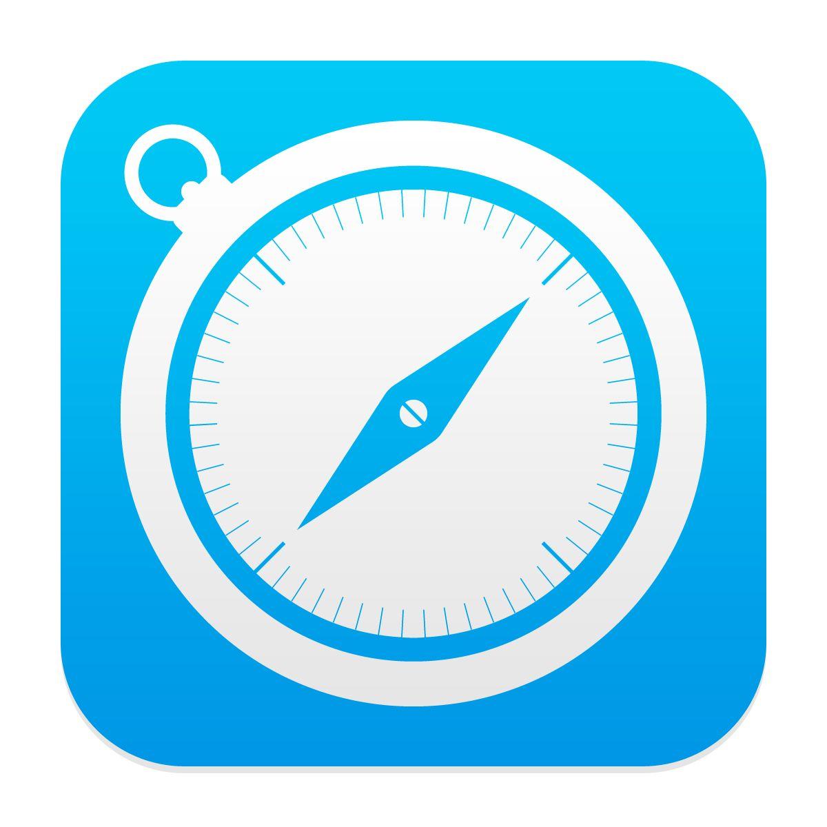iOS7 Safari app icon iOS 7 App Icon Design Pinterest