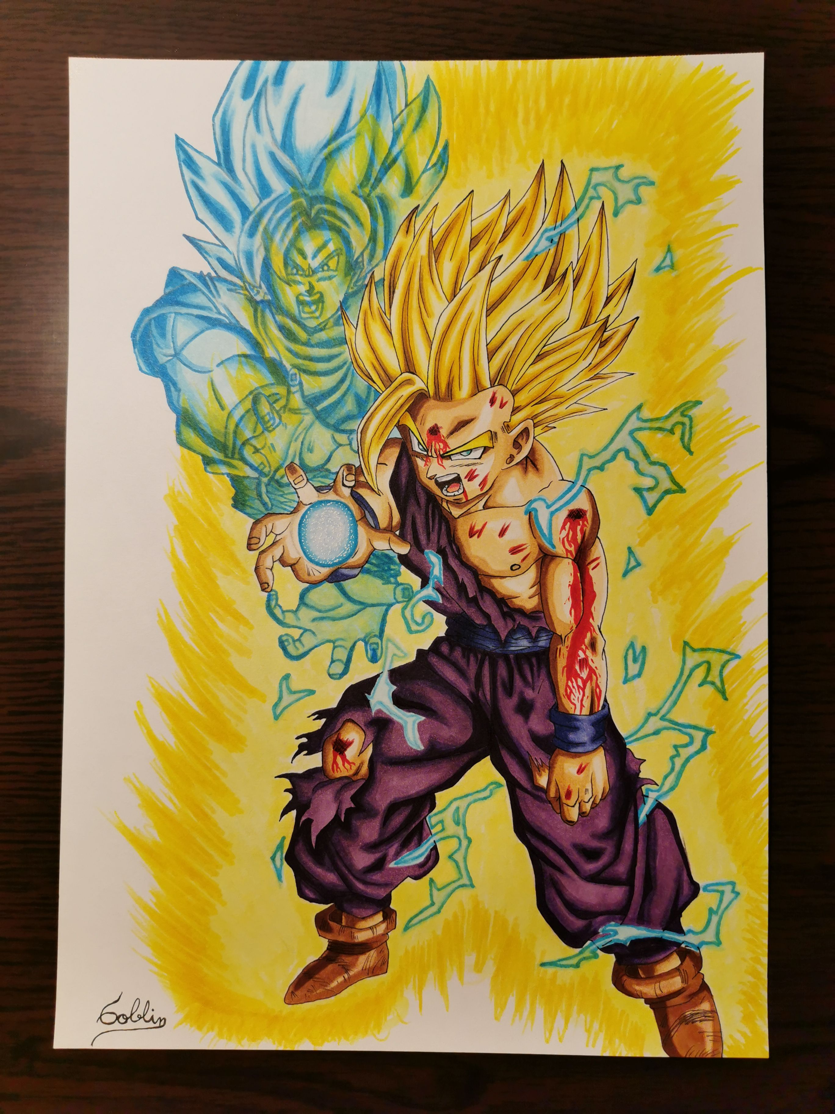 Gohan Ssj2 Dibujos Personajes De Dragon Ball Drawing