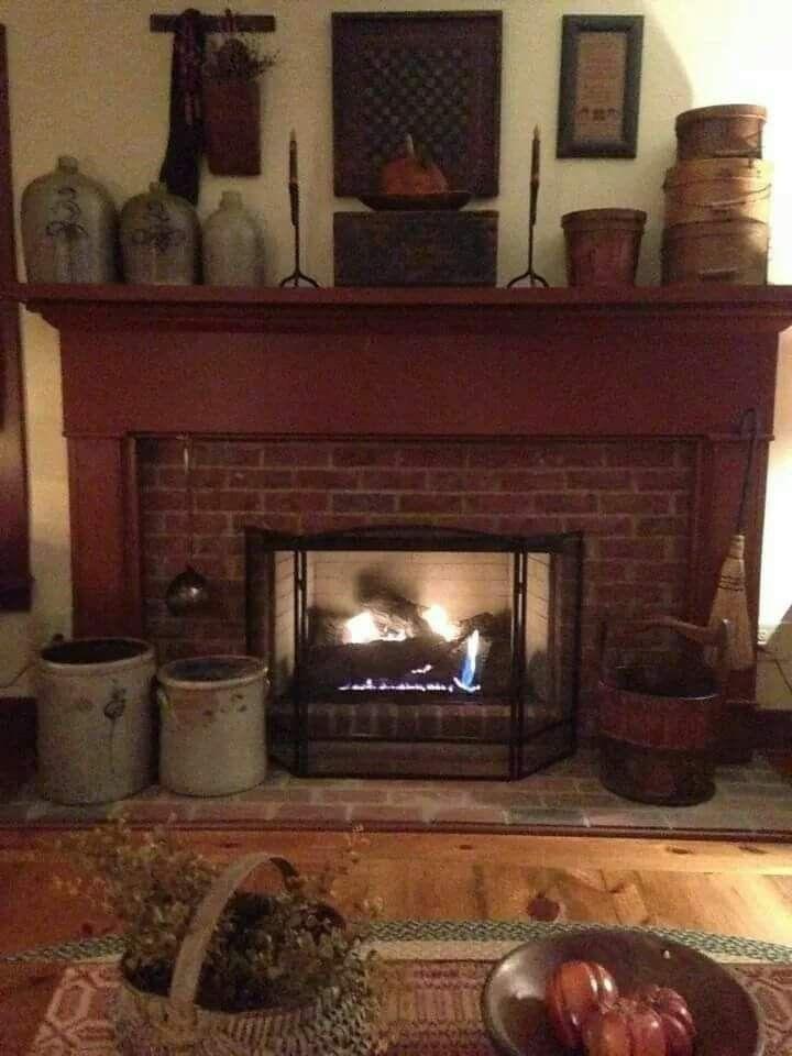 Mantle ideas primitive decor pinterest mantle ideas mantle another nice fireplace teraionfo