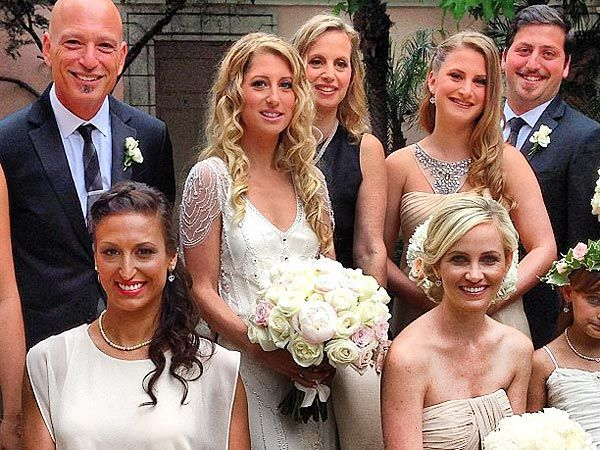howie mandel with his daughter jackelyn and wedding guests