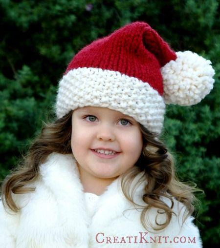 Free Santa Hat Knitting Pattern | Knit-wit | Pinterest | Dos agujas ...