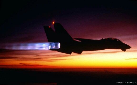 F14 sunset
