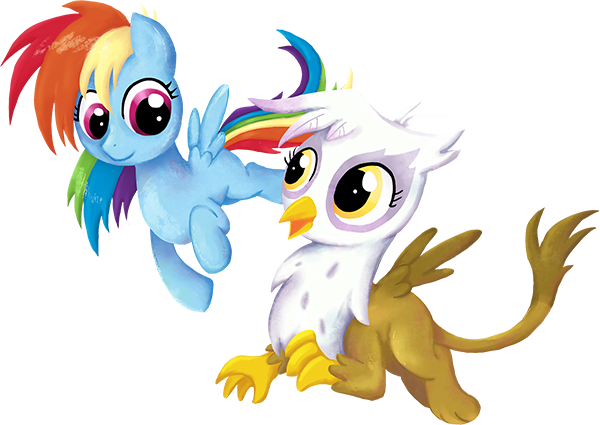 My Little Pony - Rainbow Dash and Gilda by kaizerin on DeviantArt