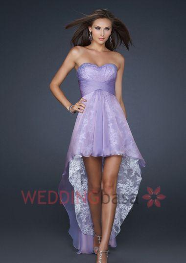 Sweetheart Neck Chiffon Lavender Prom Dress