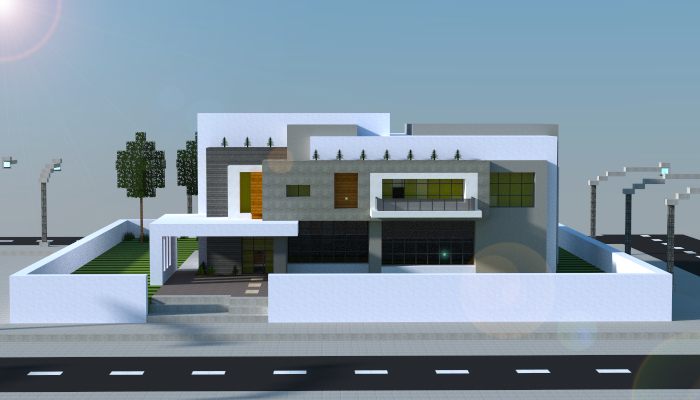 A Remake In Mincraft Of An Award Winning Modern House Design.. Download  Link (