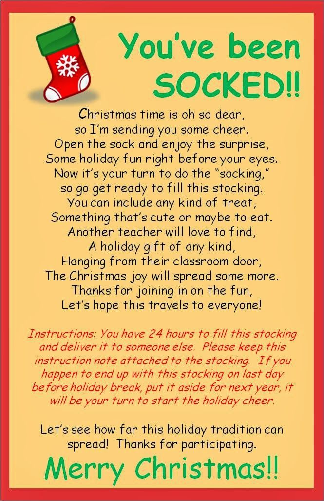 You've been SOCKED! Christmas fun for friends at the