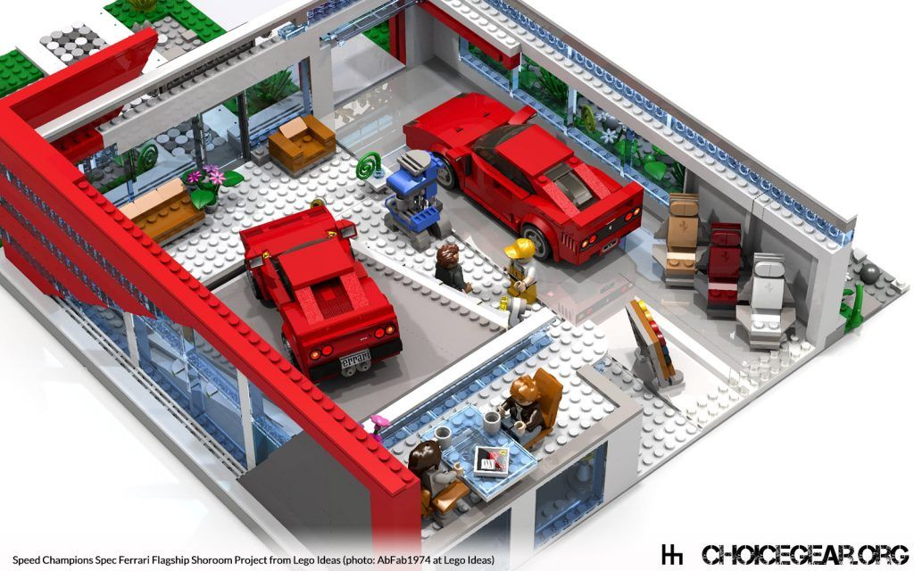 Lego Ideas: Speed Champions Spec Ferrari Dealership - Choice Gear