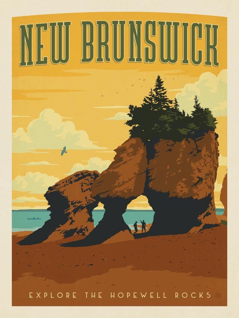 Canada: New Brunswick   Travel retro posters   Pinterest