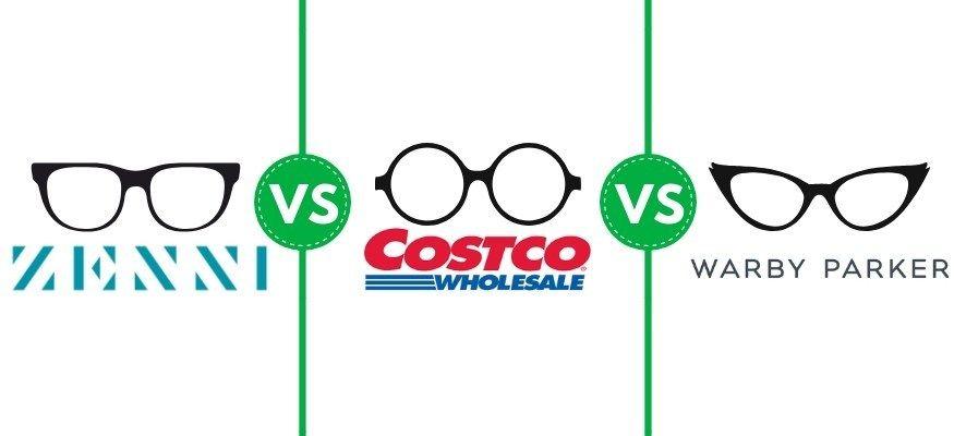 Costco Optical vs. Warby Parker vs. Zenni Optical Who has