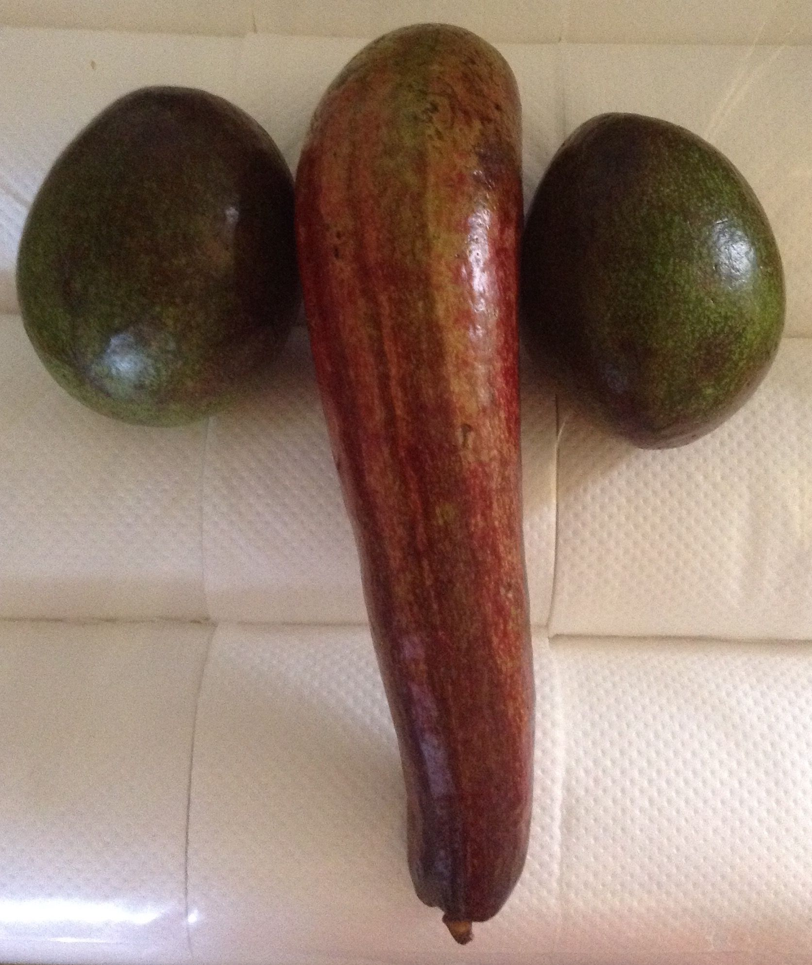 Avocados on our 40th wedding anniversary.