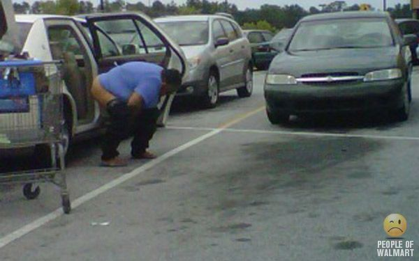 Lot parking piss