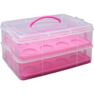 Buy Living Rectangular Cake Carrier Pink At Argos Co Uk Your