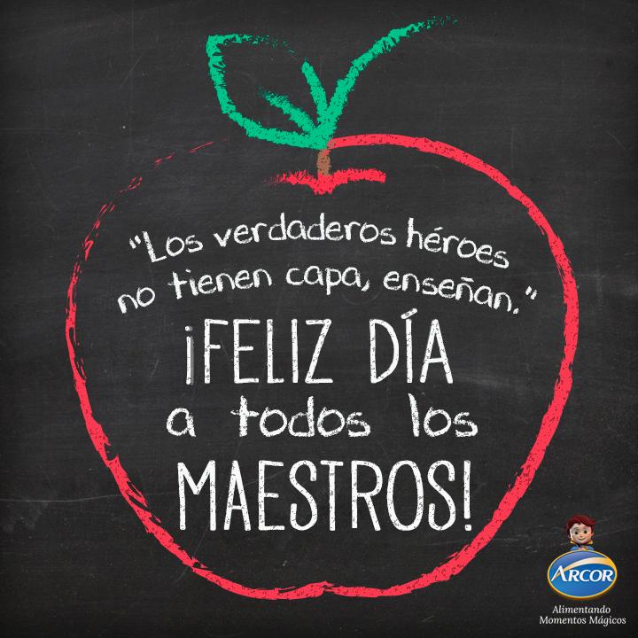 Pin About Día De Los Maestros Frases Dia Del Maestro Y