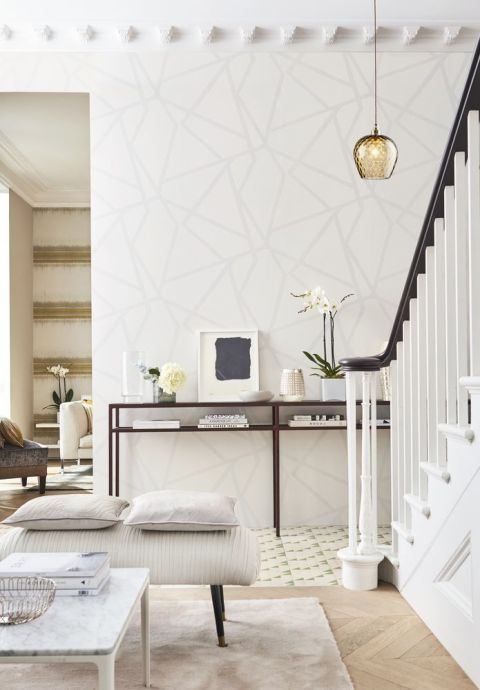 11 Clever Decorating Tricks That Will Make Any Space Bright And Airy Best Living Room Wallpaper Hallway Wallpaper Wallpaper Living Room