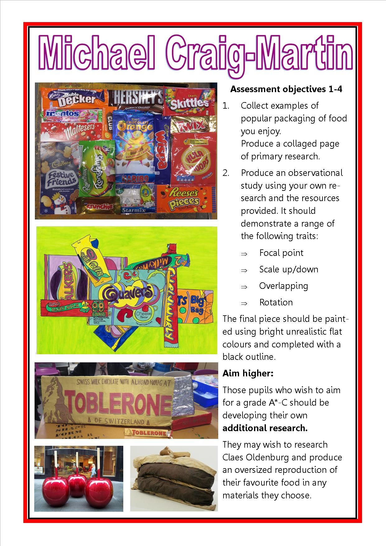 Michael Craig Martin Gcse Art Checklist