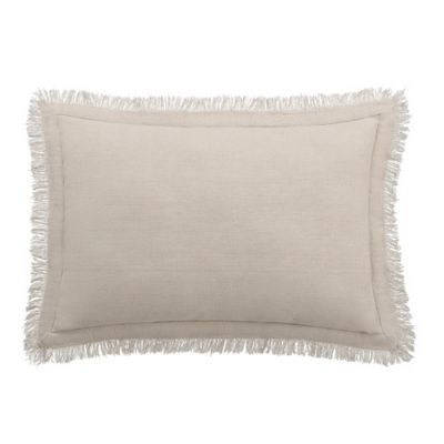 buy bridge street fairhope fringe oblong throw pillow in taupe, Hause ideen