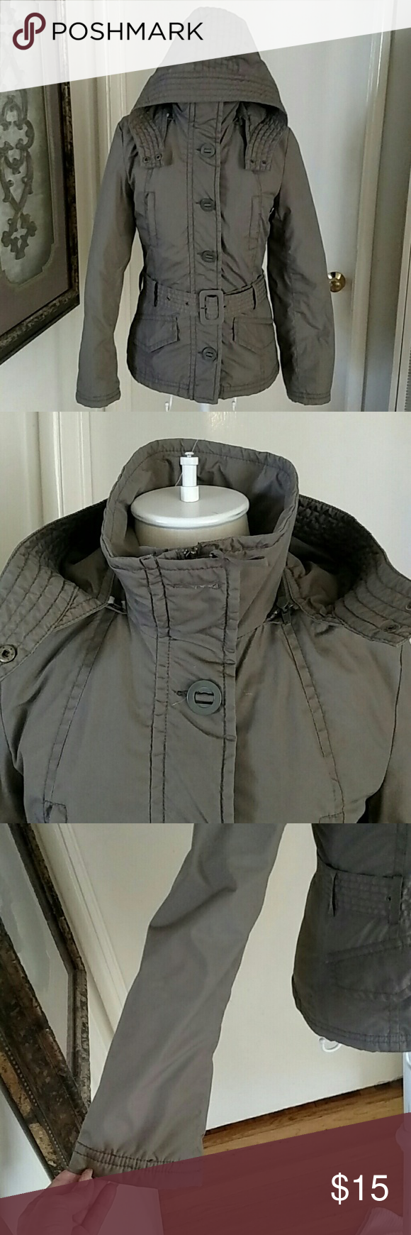 H & M Olive puffer jacket size 4 Jackets, Clothes design