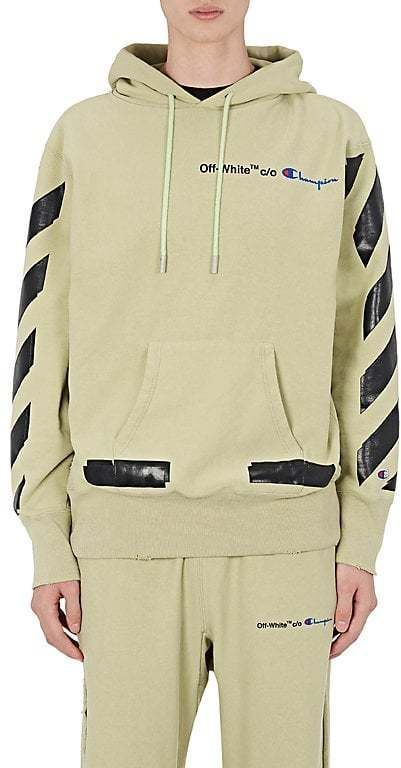 5723539a Off-White Men's Champion Cotton-Blend Hoodie | Products | Hoodies ...