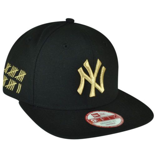 Mlb New Era 9fifty 950 Hasher Redux New York Yankees Snapback Black Gold Hat Cap Gold Hats Hats Snapback