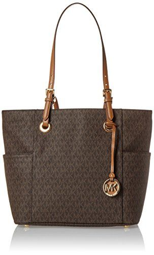 a884d4e658 Michael Kors Women's Jet Set Item Ew Signature Tote, Brow... https: