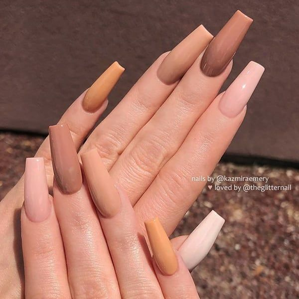 The Latest Coffin Nails Design For Fall And Winter Fall Acrylic Nails Tapered Square Nails Long Acrylic Nails