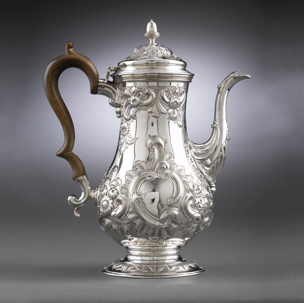 Hester Bateman Georgian Silver Coffee Pot Hester Bateman was an English…
