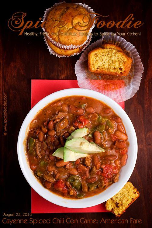 Chili Con Carne American Fare Recipe Chili Con Carne Chili Diner Recipes