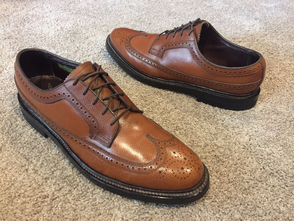 Mens Royal Imperial Florsheim Shell Cordovan Wingtip Oxford Shoes Size 10 B