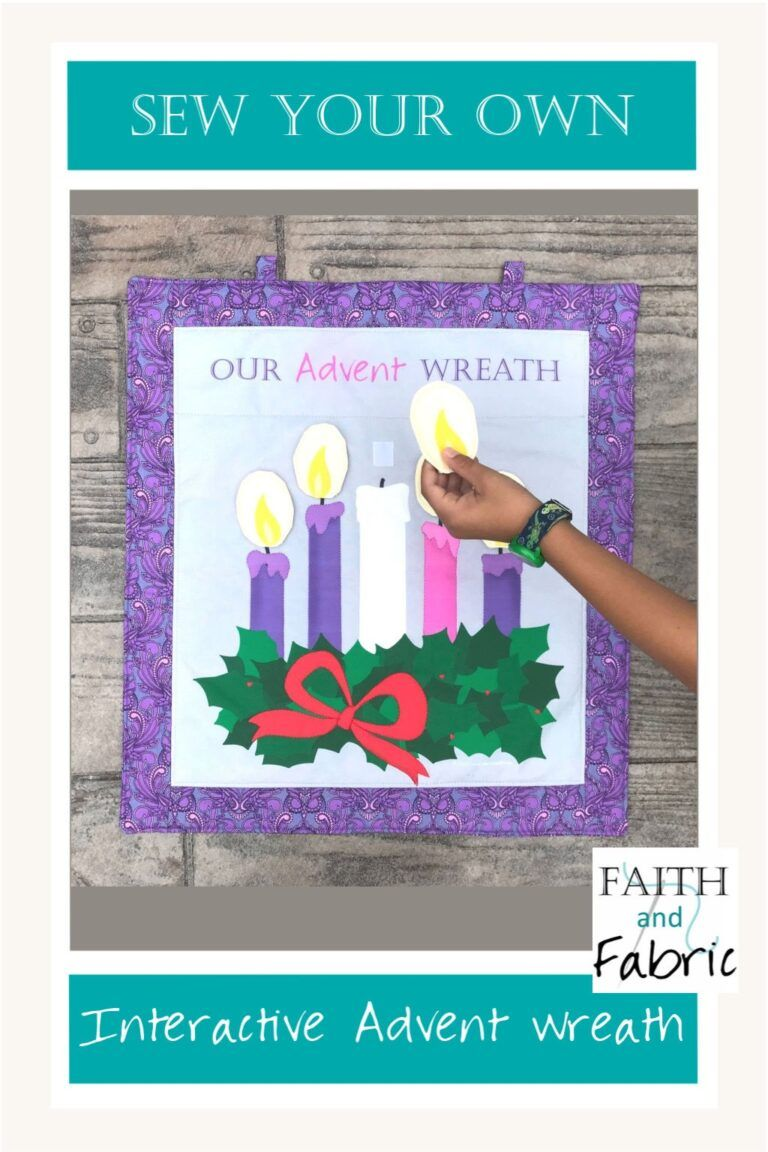 Photo of Tutorial: Sew an Interactive Fabric Advent Wreath