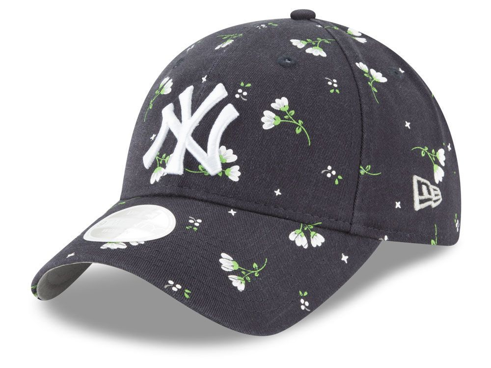 New York Yankees New Era Mlb Women S Blossom 9twenty Cap Yankees Hat New York Yankees Adjustable Hat