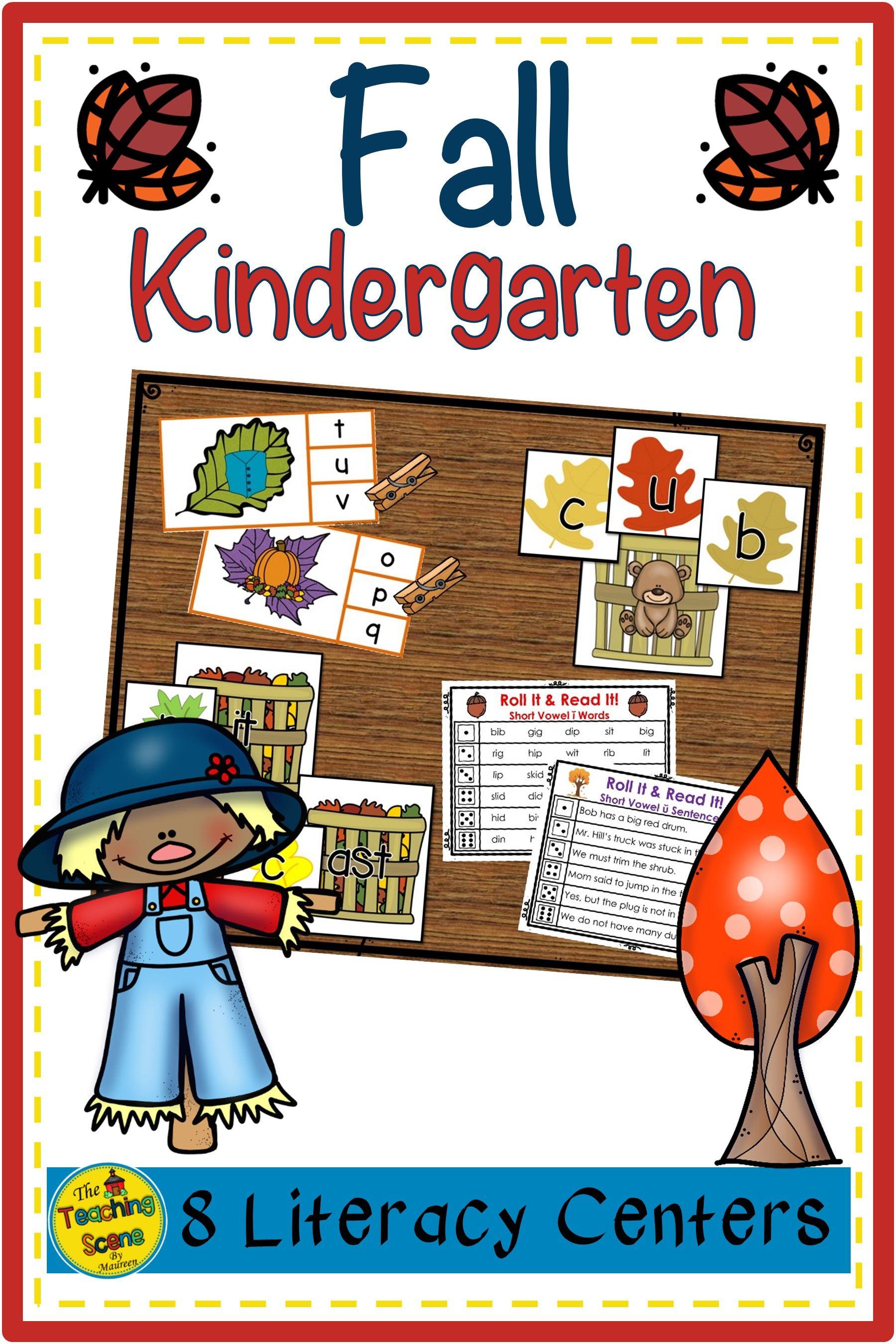 Kindergarten Literacy Centers Eight Fall Themed Centers