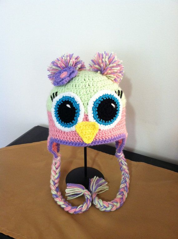 crochet owl hat for girls by LaNinaBellaBoutique on Etsy, $18.00 ...