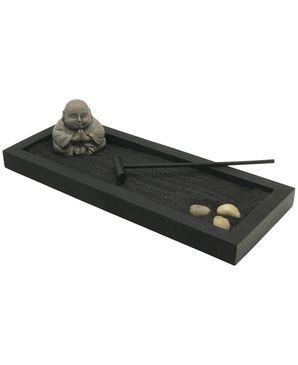 Happy Buddha Zen Garden With Black Sand Zen Garden Buddha Zen Mini Zen Garden