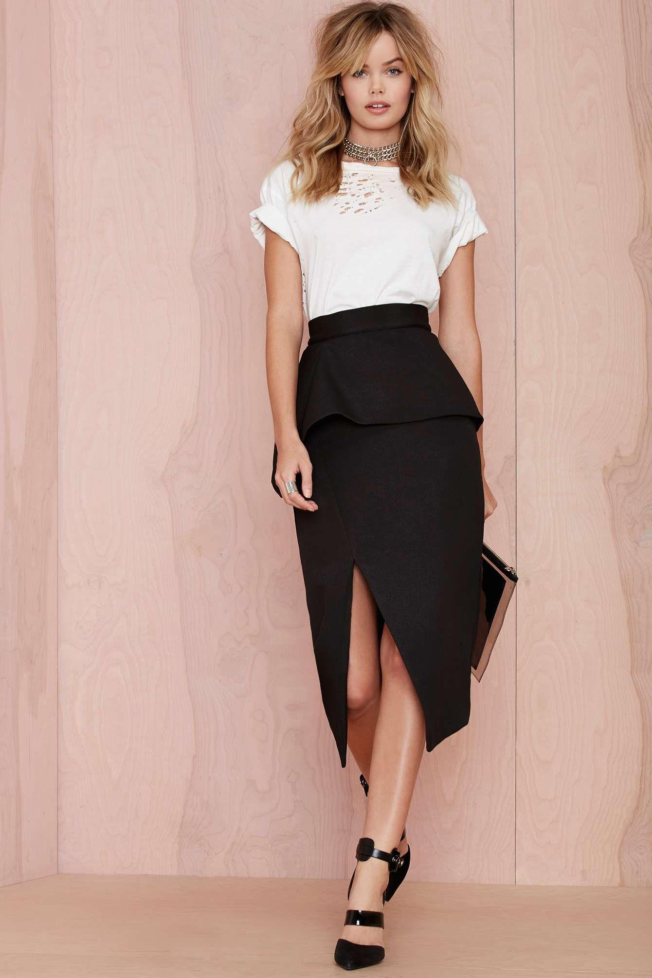 Nana Judy Slit Up Peplum Skirt | Shop What\'s New at Nasty Gal ...