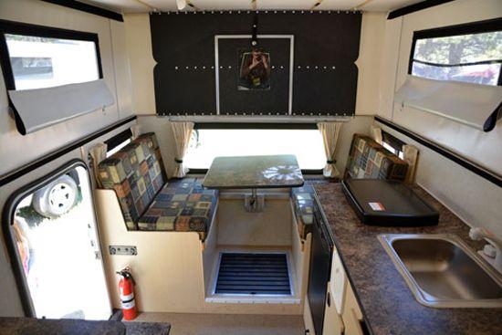 Toyota Tacoma Flatbed Camper Interior Camper Slide In Truck Campers Campervan Interior