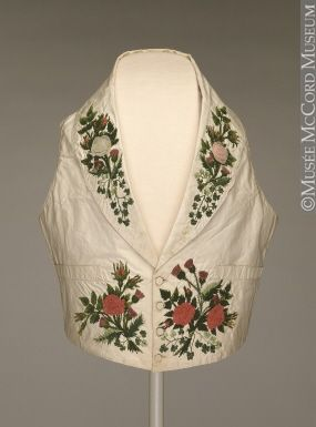 1840 waistcoat | Florals are dandy!