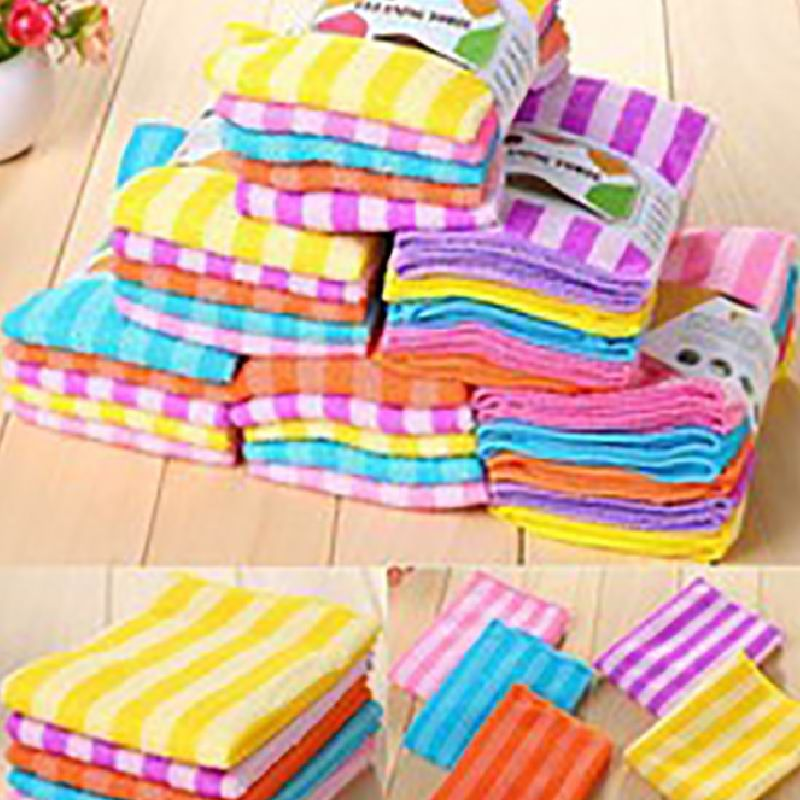 Kitchen Absorbent Towel 5pcs Cloth Microfiber Dish Set Super Cleaning Household