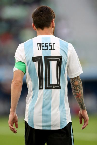 Lionel Messi of Argentina during the 2018 FIFA World Cup Russia group D match between Nigeria and Argentina at Saint Petersburg Stadium on June 26, 2018 in Saint Petersburg, Russia.