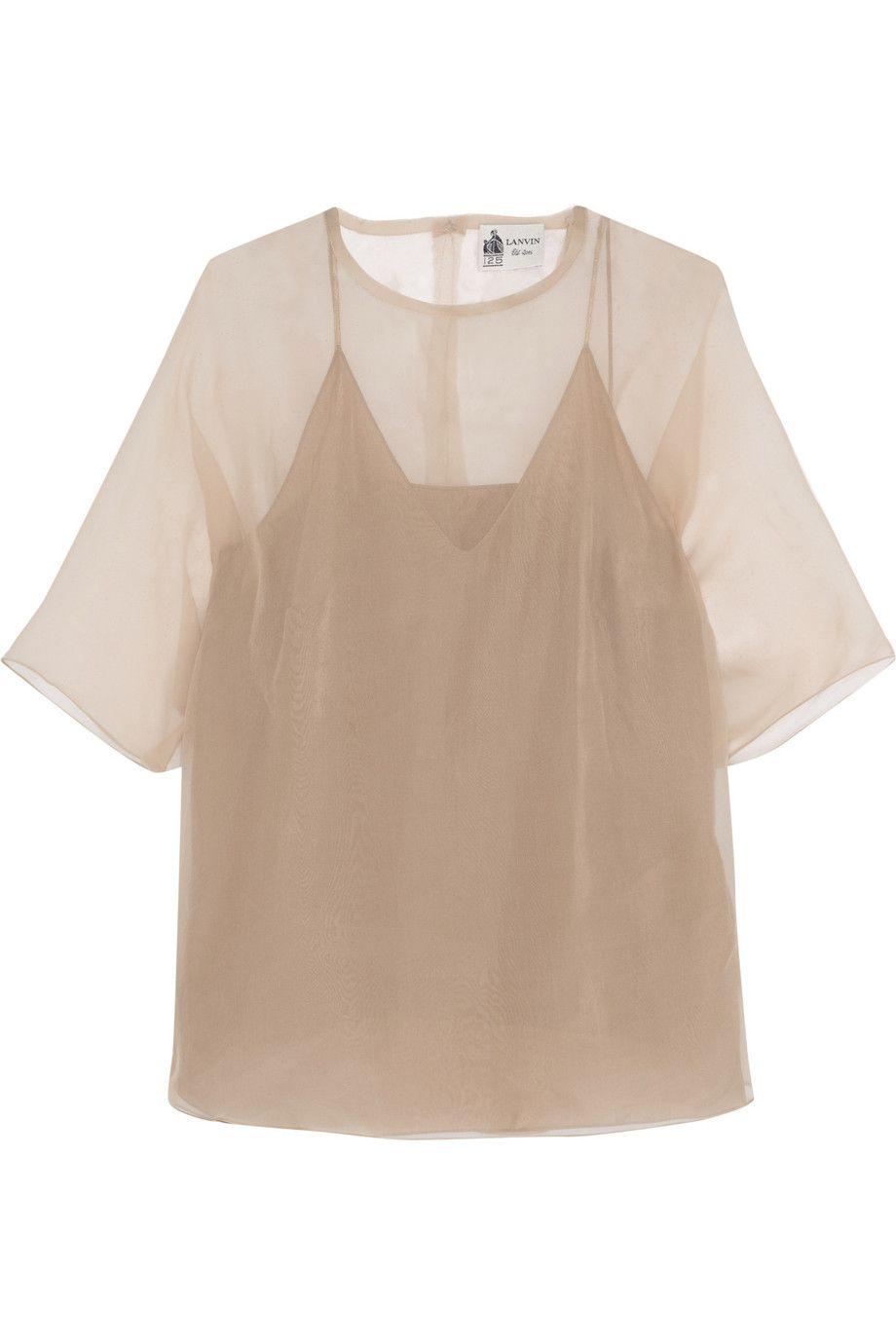 lanvin silkorganza top lanvin cloth top