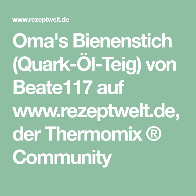 Oma S Bienenstich Quark Ol Teig Rezept Backen Thermomix Und Rezepte