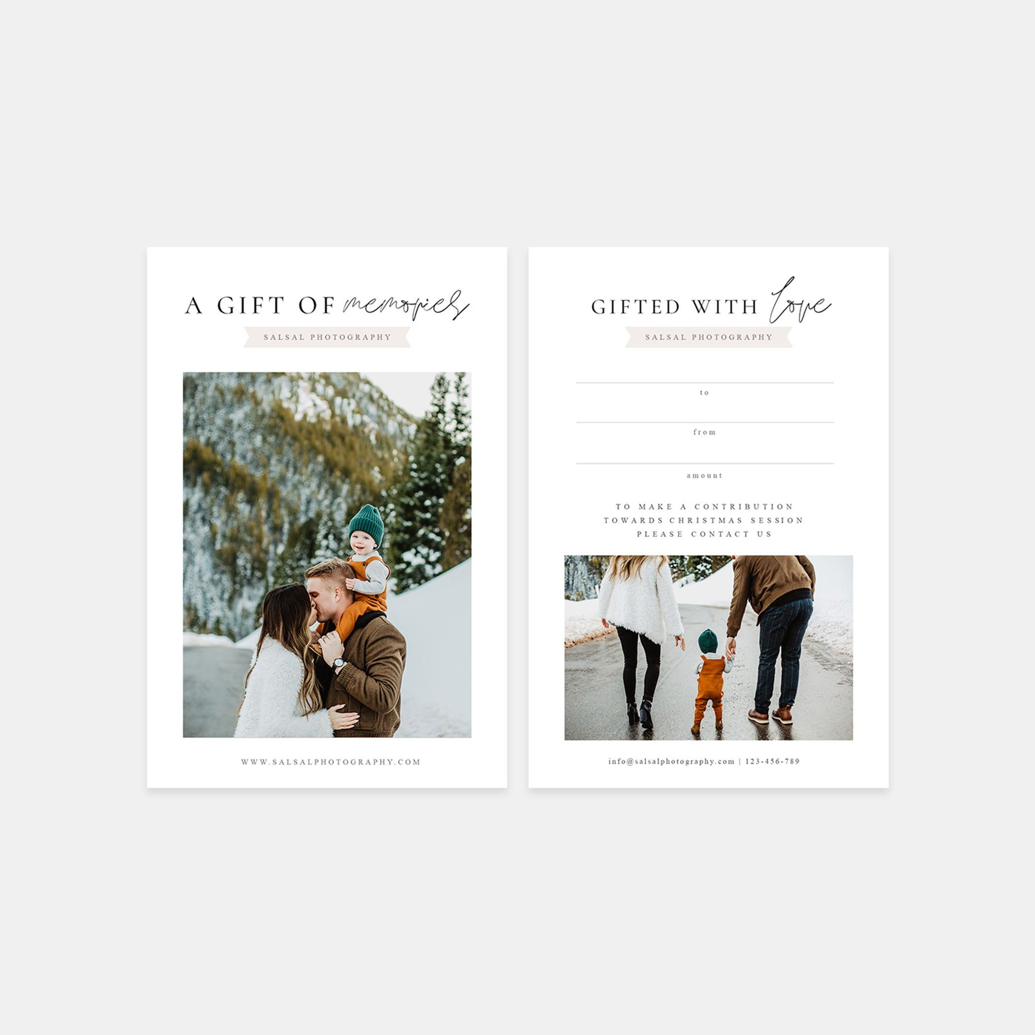 Photographer Gift Certificates Photoshop And Canva Template Etsy Photographer Gift Certificates Photography Gift Certificate Photography Business Cards Template