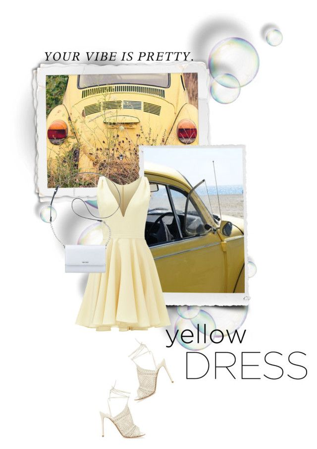 """Marilyn Yellow Dress"" by colierollers ❤ liked on Polyvore featuring Allison Parris, Nine West, Gianvito Rossi and yellowdress"