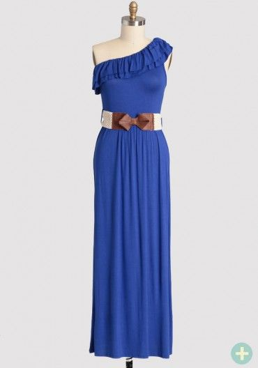 Dream Chaser Curvy Plus Maxi Dress In Blue