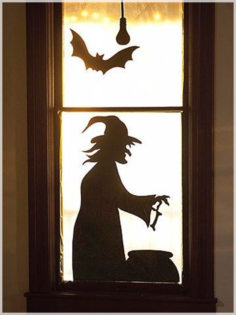 Some good ideas for making homemade Halloween decorations paper - Window Halloween Decorations