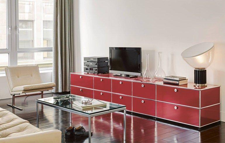 Sectional modular metal storage unit USM Haller Sideboard for Living